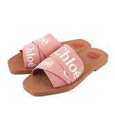 【CHLOE】WOODY FLAT MULE平底拖鞋(粉色) CHC19U188086H6