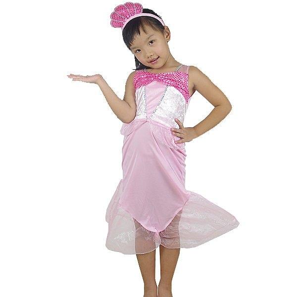 粉美人魚,萬聖節造型服裝/化妝舞會/角色扮演/尾牙表演/人魚裝/兒童變裝,節慶王【W380110】