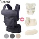 【大全配】Bebefit S7 旗艦款 智能嬰兒揹帶(4色可選)+嬰兒墊+頭枕口水巾+肩帶口水巾