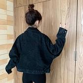 秋冬韓版復古港風牛仔外套女小個子洋氣百搭簡約長袖夾克 - 風尚3C