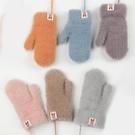 兒童手套 保暖手套寶寶加厚毛絨加絨男童女童小孩寶寶冬天冬季可愛【快速出貨八折下殺】