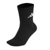 Adidas 3S PER CR HC 1P [615663] 中筒襪 透氣 舒適 彈性 男女 黑 白