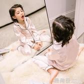 兒童睡衣新款夏裝男童家居服薄款空調服冰絲套裝睡衣男孩夏『快速出貨』