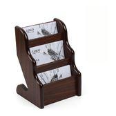 5008木質多層名片盒放名片三層名片座請賜名片架夾 名片本 享購