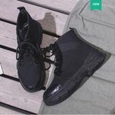 馬丁靴 黑色馬丁靴女2019夏季新款帥氣厚底英倫風薄款酷機車靴子短靴秋冬 優品匯