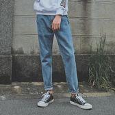 牛仔褲 百搭基本款淺色牛仔褲男士復古韓版顯瘦牛仔小腳褲