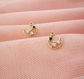 耳環 天鵝珍珠鋯石耳環 耳環座可選搭 i917ღ