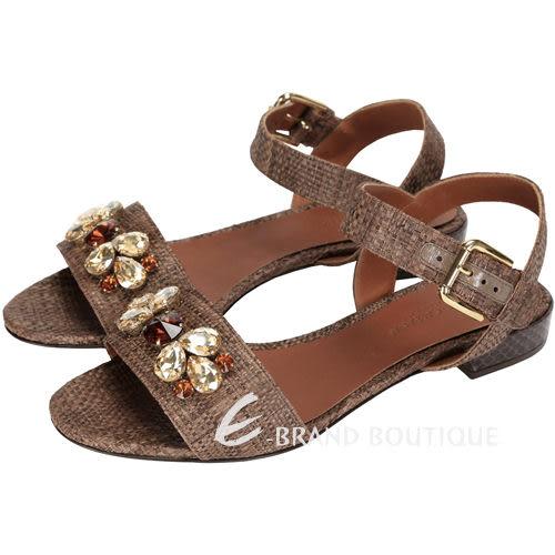 DOLCE & GABBANA 寶石編織涼鞋(咖啡色) 1430341-07