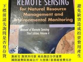 二手書博民逛書店REMOTE罕見SENSINGY452658 edited by Susan L.Ustin WILEY 出