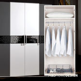 波爾卡2.7尺收納衣櫥(有籃)(19CM/628-3)/H&D 東稻家居