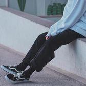 春季休閒九分褲男ulzzang韓版青少年學生日系潮流寬鬆直筒闊腿褲 挪威森林