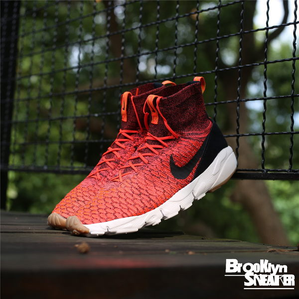 Nike Air Footscape Magista Flyknit 高筒 編織 襪套 紅黑 呂布 武士慢跑鞋 2016 9月  ( 布魯克林 )  816560-600