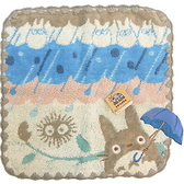 【波克貓哈日網】龍貓豆豆龍方巾◇龍貓雨傘圖案◇《25.5 x 25.5cm》