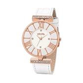 【Folli Follie】DYNASTY奢華晶鑽羅馬時尚腕錶-精白款/WF1B029SSS_WH/台灣總代理公司貨享兩年保固