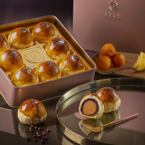 送禮首選【漢來大飯店】糕餅小舖 蛋黃酥旺月禮盒