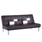 【采桔家居】羅瑟 時尚皮革沙發/沙發床(二色可選+展開式椅身調整設計)