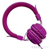 耳機頭戴式音樂重低音有線帶麥克風全民k歌耳機錄音專用手機筆記本電 漾美眉韓衣