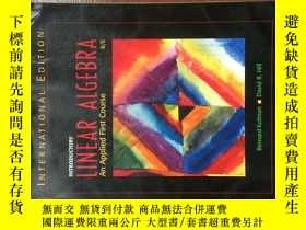 二手書博民逛書店Introductory罕見ar Algebra: An Applied First Course (8th Ed