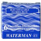 WATERMAN 袖珍型卡式墨水-6入佛羅里達藍