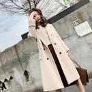 呢子外套 2020秋冬新款雙面羊絨毛呢大衣女裝中長款小個子寬松加厚呢子外套【免運】