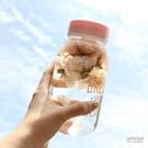 韓版大容量粉字母獨角獸玻璃杯子帶茶隔學生清新便攜水杯女隨手杯