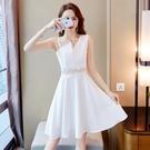 短款旗袍洋裝夏季時尚改良版小個子年輕款少女修身性感顯瘦現代 艾瑞斯居家生活