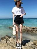 牛仔短褲女寬鬆闊腿高腰a字熱褲