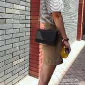 新款mini百搭韓版女包單肩斜跨包鍊條小方包小清新文藝女包學生·花漾美衣