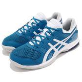Asics 排羽球鞋 Gel-Rocket 8 藍 白 運動鞋 排球 羽球 男鞋【PUMP306】 B706-Y401