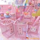 買1送1 粉嫩鐵藝方形筆筒美少女仙女露娜貓筆筒桌面收納桶【小獅子】