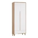 【采桔家居】艾戴夫 時尚2.5尺雙吊衣櫃/收納櫃(吊衣桿+單抽屜)