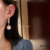 珍珠耳環潮韓國氣質高級感耳墜網美耳飾女【時尚大衣櫥】