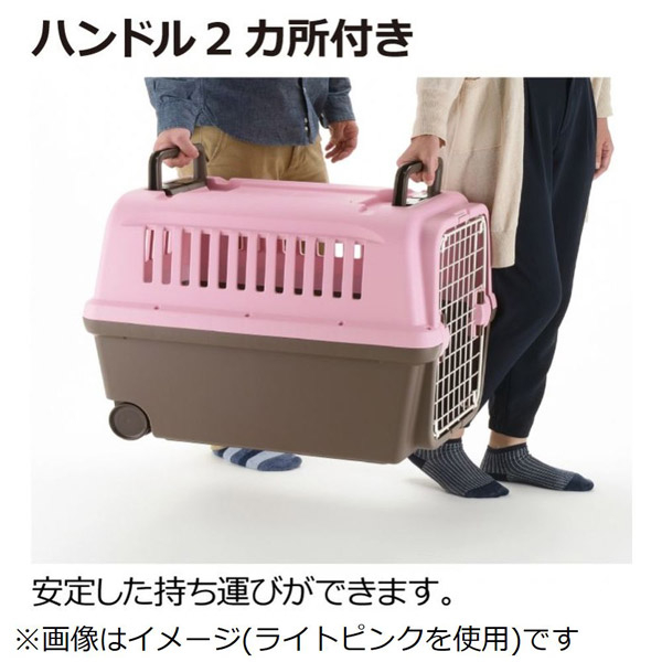 PetLand寵物樂園《日本RICHELL》運輸提籠附輪子 XL號 / 棕色