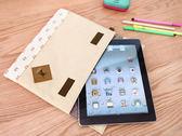 森林系女孩簡約拼布iPad 包多 收納包皮質LOGO 水玉點點小花【SV3747 】快樂