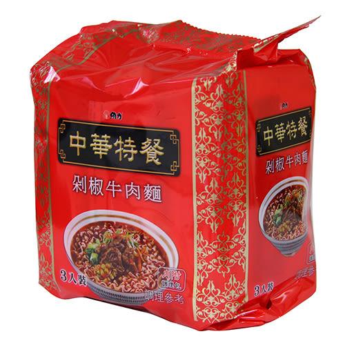 中華特餐剁椒牛肉袋麵135g*3【愛買】