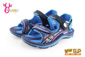 GP涼鞋 中大童 磁扣兩穿防水涼鞋 足弓款 I6704#藍色◆OSOME奧森童鞋