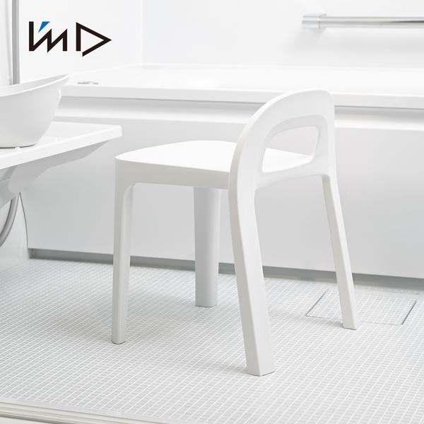 【日本岩谷Iwatani】RETTO高腳一體簡約室內/穿鞋/浴室椅凳