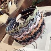 髮箍鐵水鉆頭飾韓國成人髮卡時尚頭箍鑲鉆韓版【極簡生活館】
