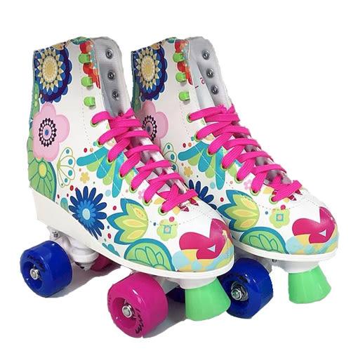 英萊斯克 復古四輪溜冰鞋-白(38)【愛買】