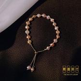 日韓氣質手串小眾設計天然淡水珍珠手鏈女簡約手飾【輕奢時代】