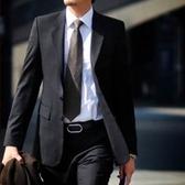 西裝套裝含西裝外套+褲子-焦點嚴選職業成套男西服6x40【巴黎精品】