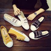 春季新款小白帆布鞋韓版學生百搭平底懶人布鞋夏季一腳蹬女鞋
