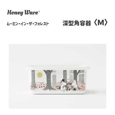 日本【富士ホーロー】moomin Honey Ware深型保存盒M MTF-DM