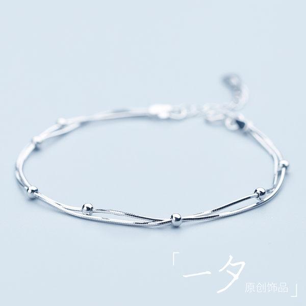 手鍊女韓國簡約學生生日禮物個性百搭時尚款清新新款手飾 麻吉部落