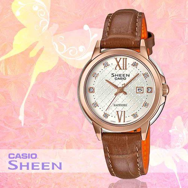 CASIO 卡西歐 手錶專賣店 SHE-4525PGL-7A 女錶 不鏽鋼錶帶  防水  玫瑰金離子