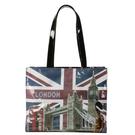 GINZA U法國Souvenirs巴黎棉織側背包/大提包(倫敦款)030503
