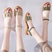 涼鞋女新款潮鞋夏軟底平底孕婦鞋子波西米亞仙女一字網紅女鞋