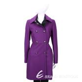 MAX MARA-SPORTMAX 紫色雙排釦設計羊毛大衣 1540855-04