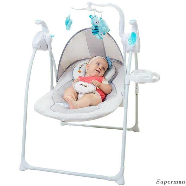 嬰兒搖椅 - 哄睡搖籃椅寶寶躺椅安撫椅搖搖椅兒童電動哄娃神器【情人節禮物限時八折】