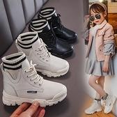 兒童靴子 兒童馬丁靴2021春新款加絨女童靴子中大童英倫風雪地大棉鞋【快速出貨八折搶購】